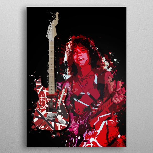 Frankencaster metal poster