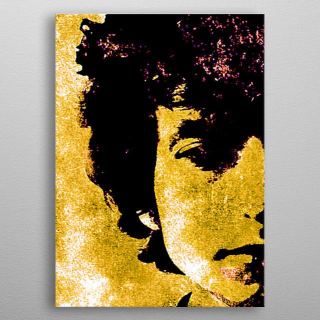 Bob Dylan- Watercolour Half face metal poster