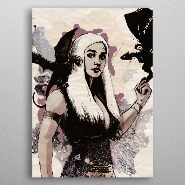 Queen of Dragons metal poster