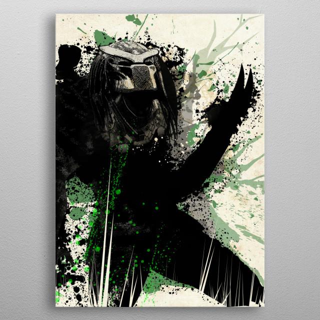 Hunter metal poster