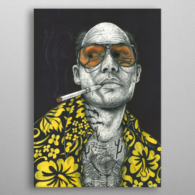 Fear and loathing metal poster