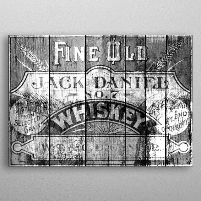 Jack Daniel metal poster
