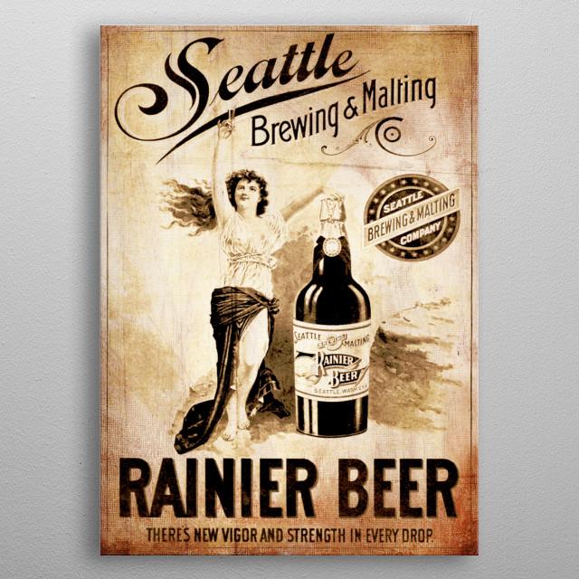 Rainier Beer metal poster
