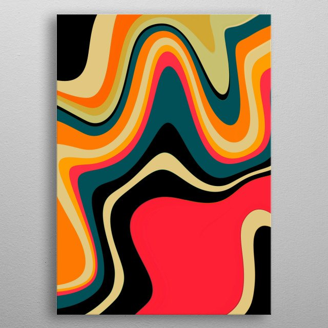 Abstract metal poster