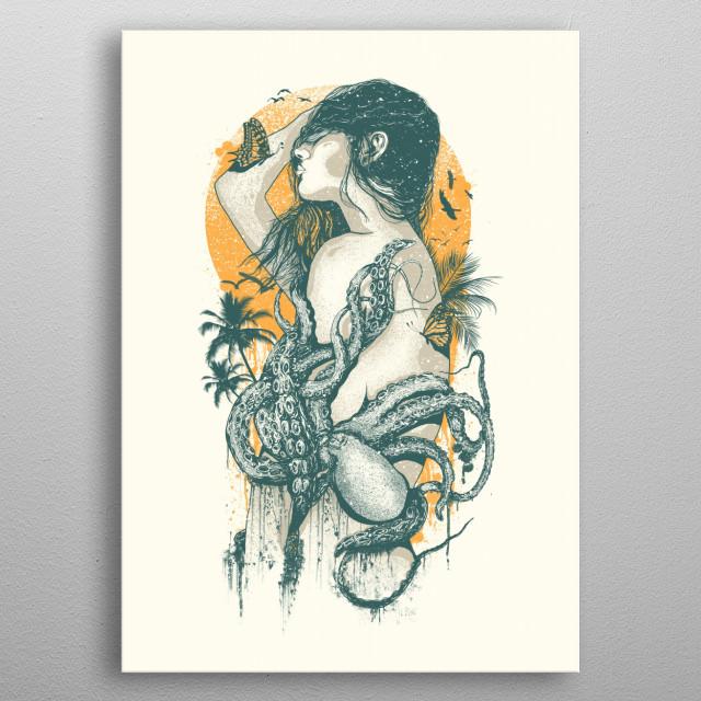 Summer Sizzler metal poster