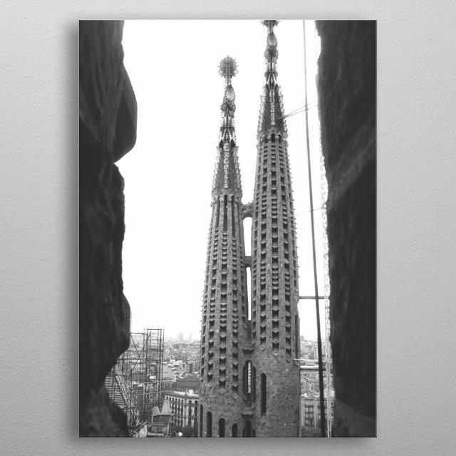La Sagrada Familia, Barcelona metal poster
