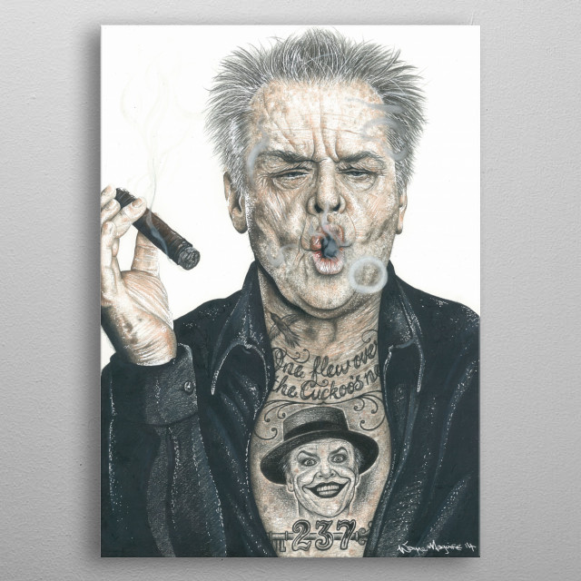 High-quality metal print from amazing Inked Ikons collection will bring unique style to your space and will show off your personality. metal poster