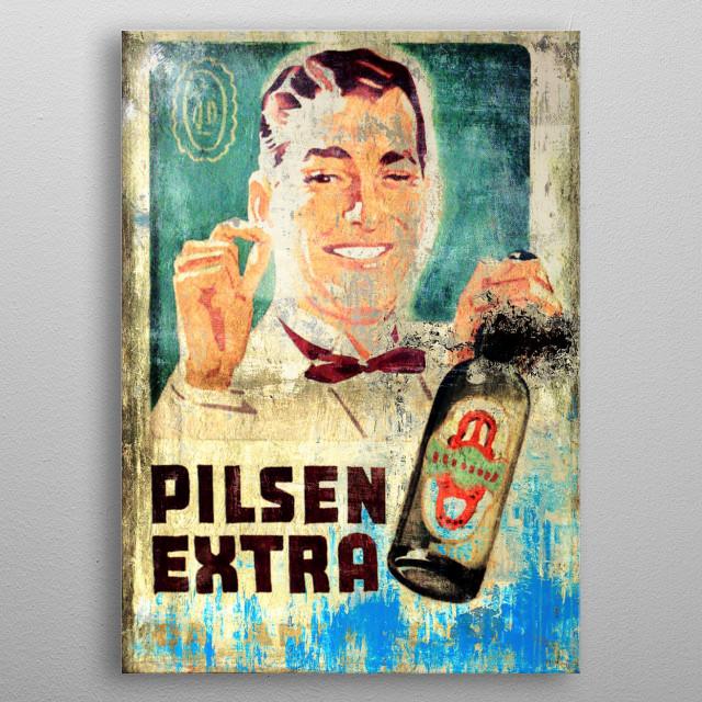 Antarctica Beer metal poster