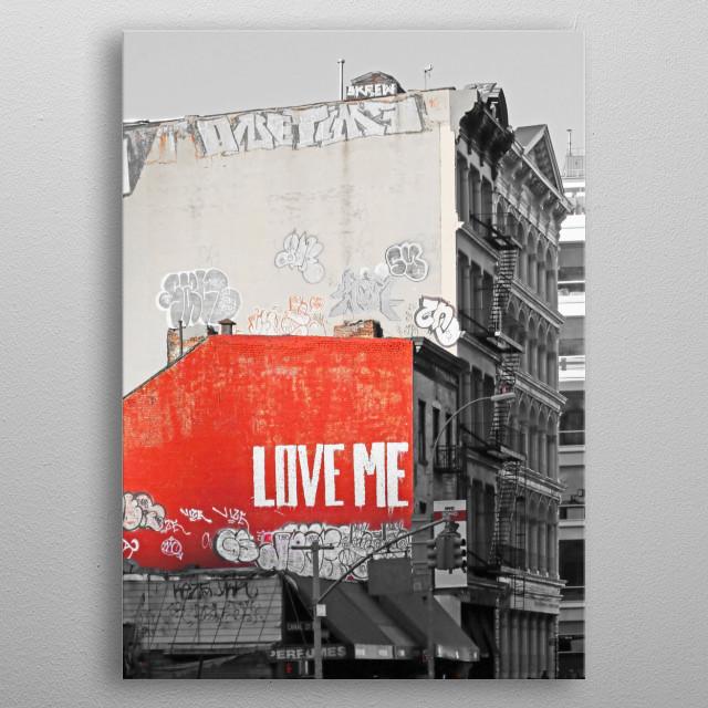 Love Me NYC metal poster