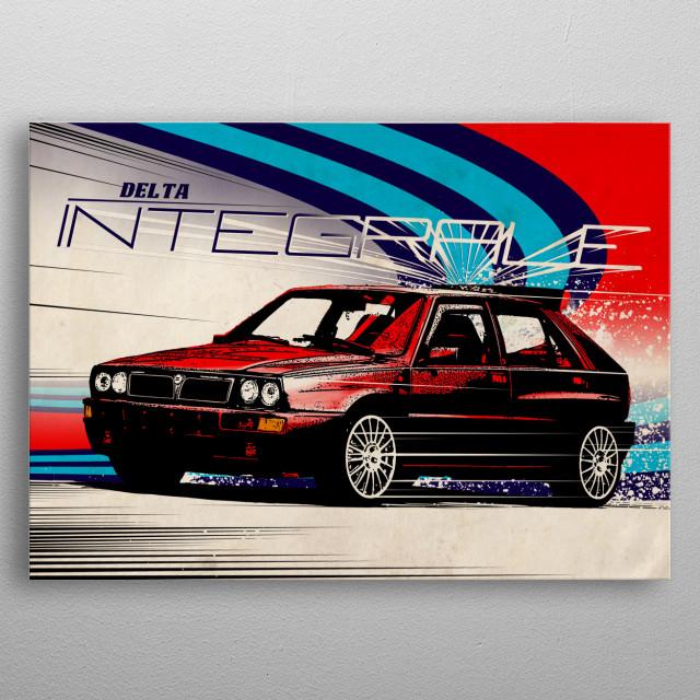 delta integrale metal poster
