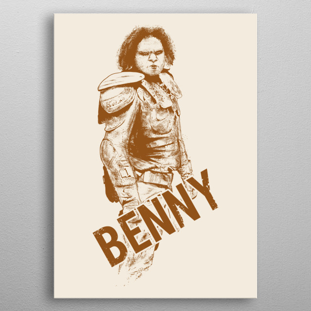 Benny . From Wyrmwood - An Aussie Independant Zombie Film ! metal poster