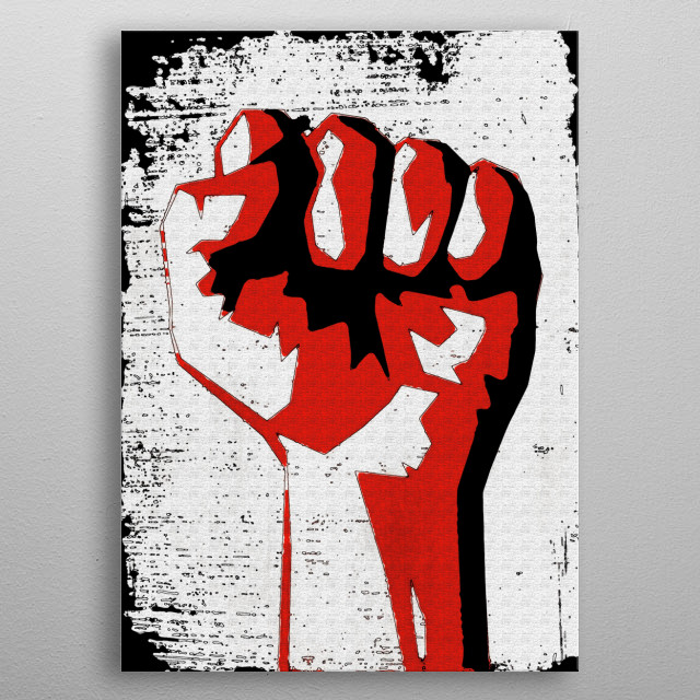 Revolution! - Painterly Style metal poster