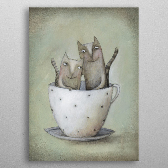 love in the cup metal poster