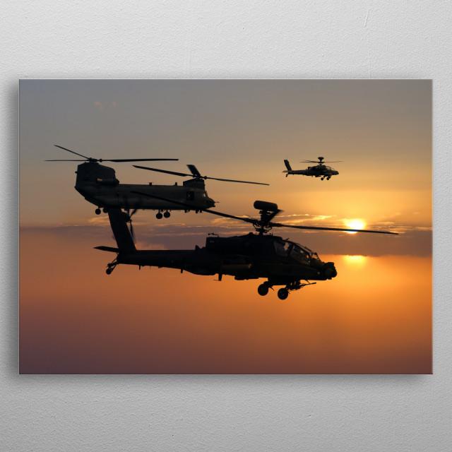 Apache Escort metal poster