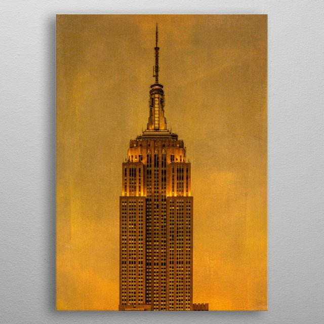Empire State Building metal poster