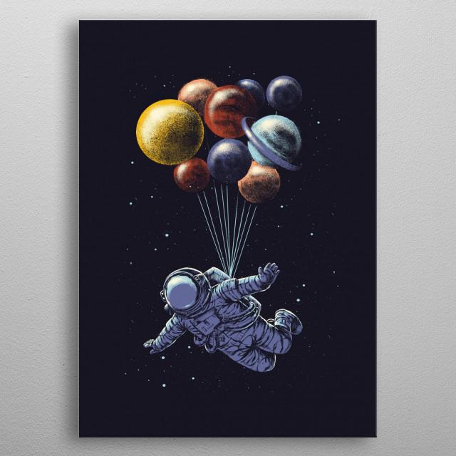 Space travel metal poster