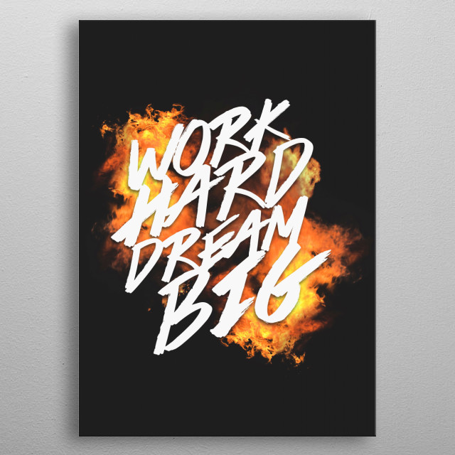 Work Hard metal poster