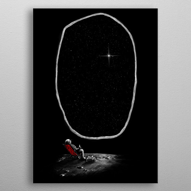 Space Chill metal poster