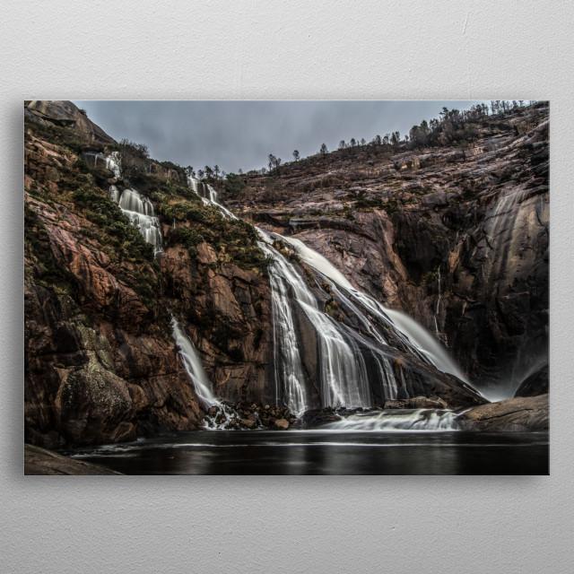 Waterfall metal poster