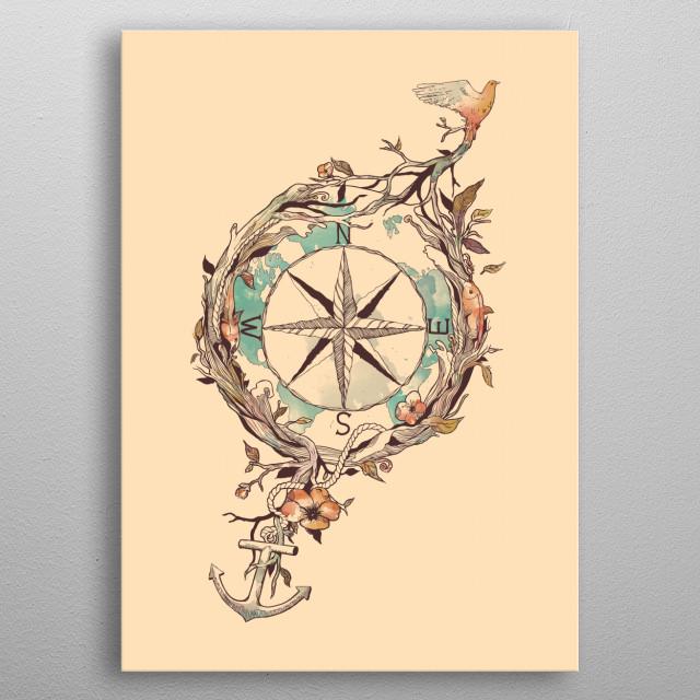 Bon Voyage metal poster