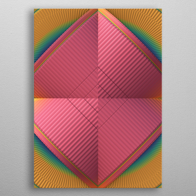 Color, Line, Form metal poster
