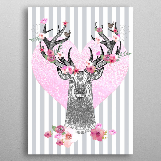 STAG IN LOVE metal poster
