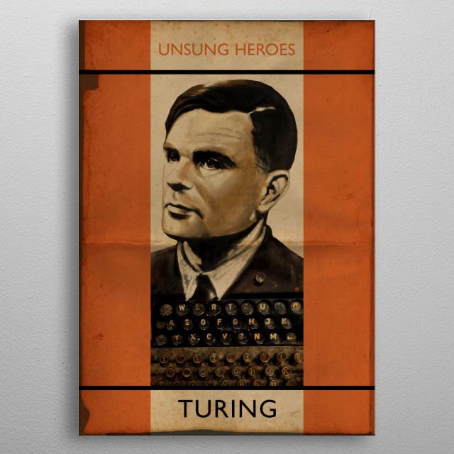 Turing metal poster