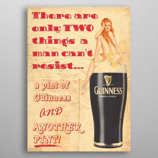 Guinness metal poster