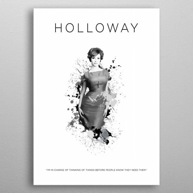 Joan Holloway metal poster
