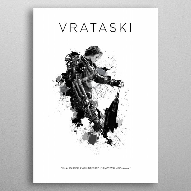 Sergeant Rita Vrataski metal poster