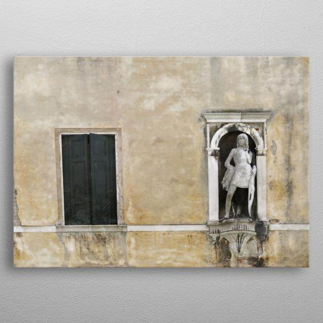 Sculpture in Venice metal poster