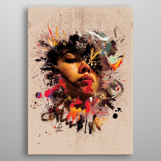 High-quality metal print from amazing Paint Faces collection will bring unique style to your space and will show off your personality. metal poster
