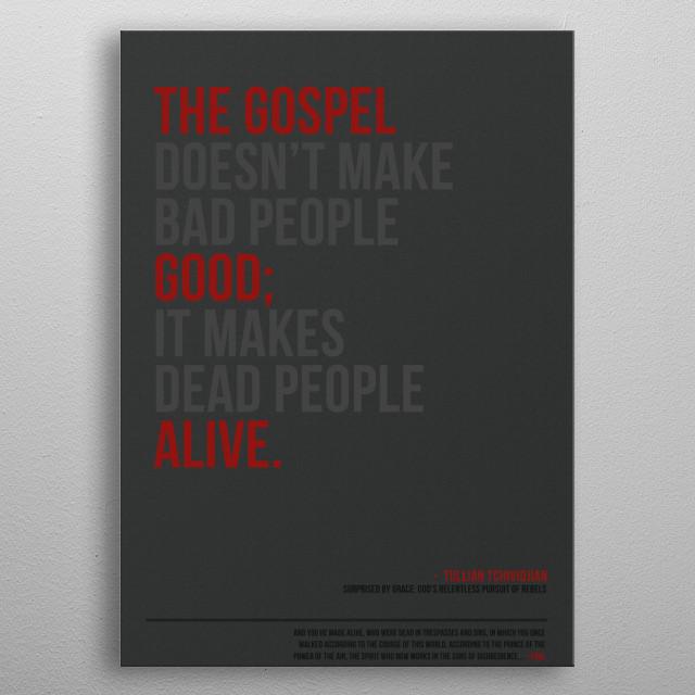 Gospel - Good and Alive Metal Poster metal poster