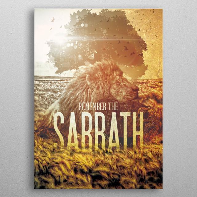 Commandment 4 - Remember The Sabbath metal poster