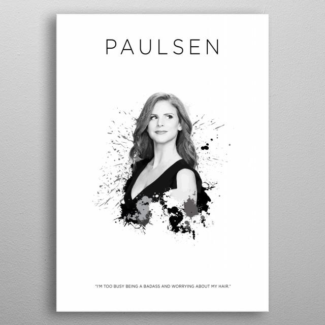 Donna Paulsen metal poster