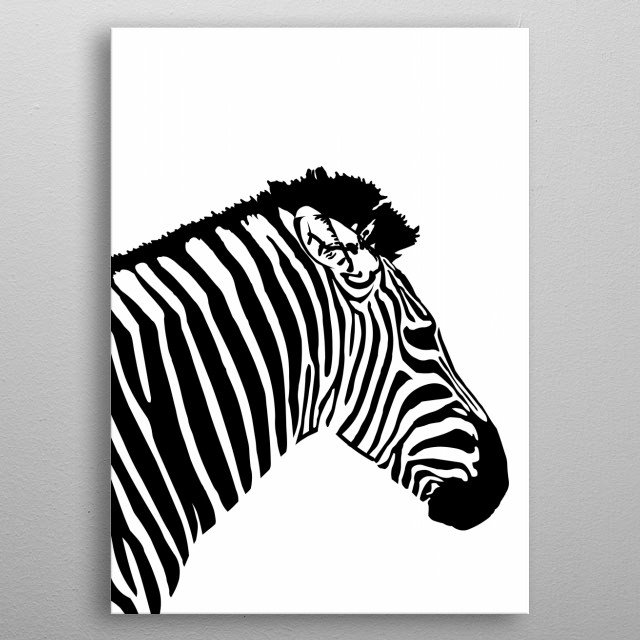 black and white metal poster