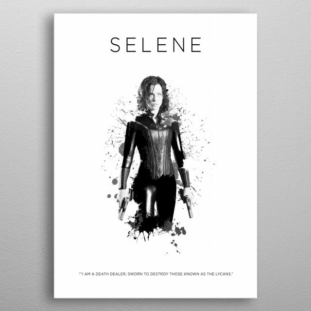 Selene metal poster
