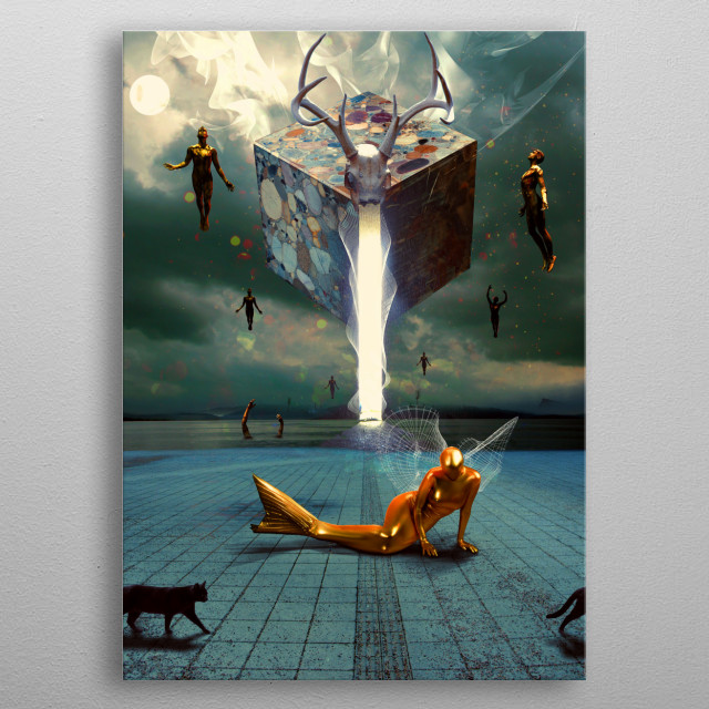 """Reincarnate------  """"I died as a mineral and became a plant, I died as a plant and rose to animal, I died as an animal and I was Man. Why sh... metal poster"""