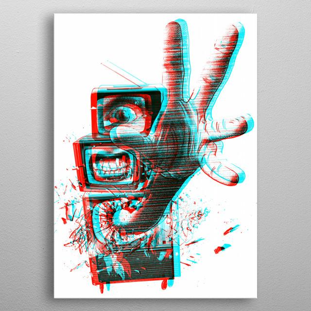 3D TVS metal poster
