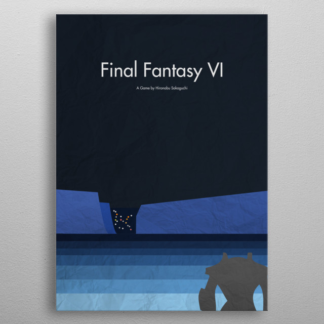 FFVI Magitek Approach video games final fantasy VI squaresoft video game yoshitako amano metal poster