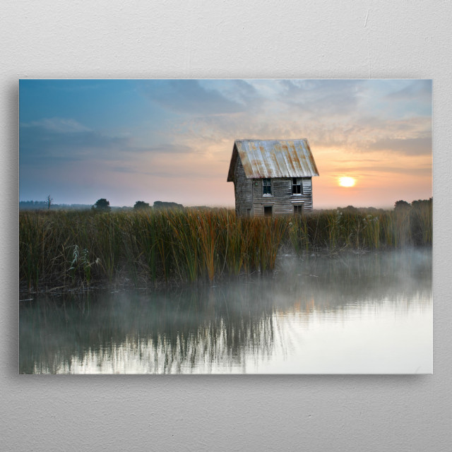The little barn metal poster