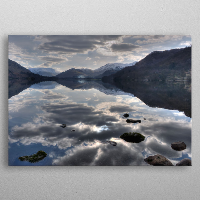 evening reflection in Cumbria metal poster