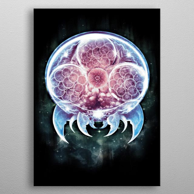 The Metroid Organism metal poster