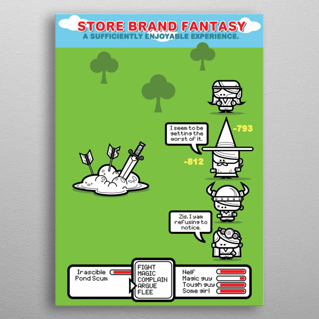 Store Brand Fantasy - Battle metal poster