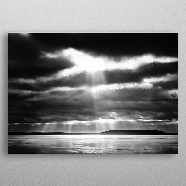 Let there be light metal poster