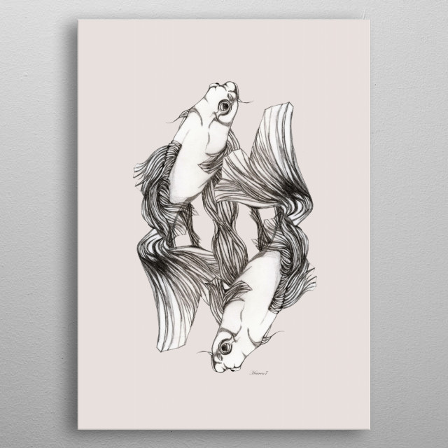 KOIS IN LOVE metal poster