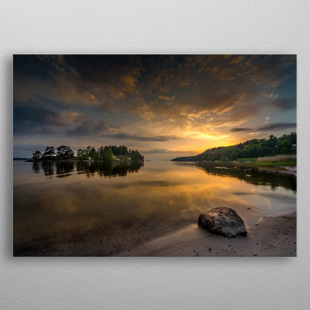 Serenity by dawn metal poster