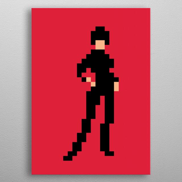 Modesty Blaise pixel art metal poster