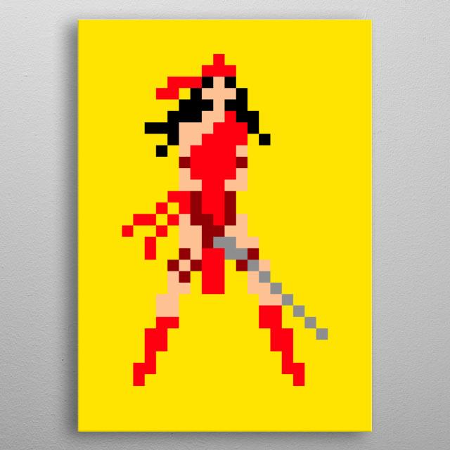 Electra pixel art metal poster