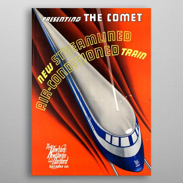 The Comet metal poster